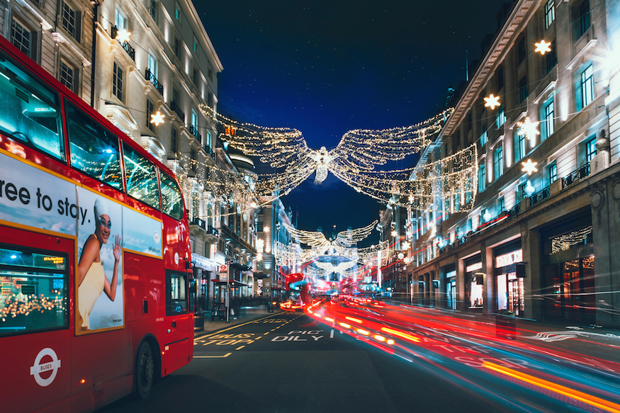 London At Christmas Time.London S Christmas Lights 2019 When Are They Switched On