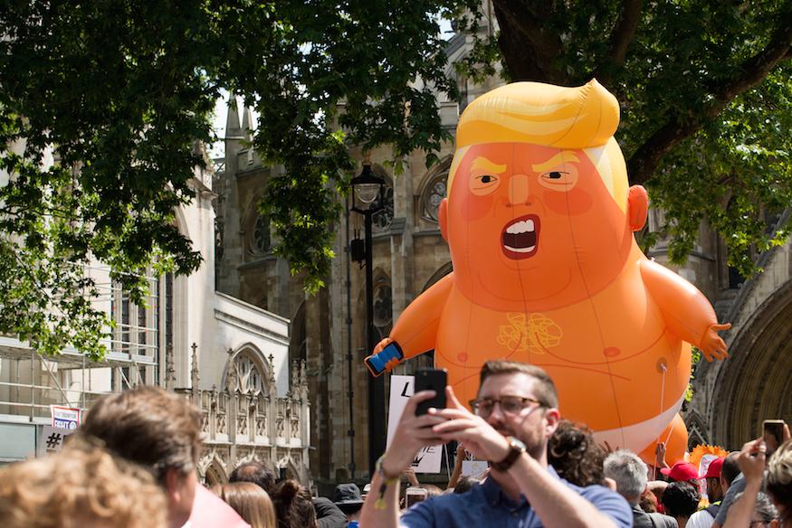 Trump Baby in London