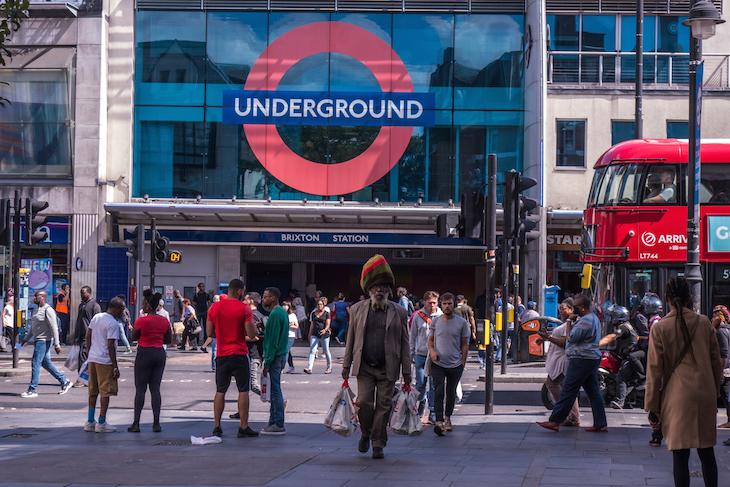 Brixton tube station - biggest roundel on tube network