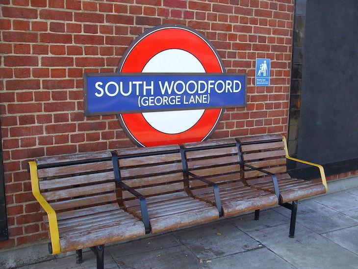 South Woodford George Lane station roundel