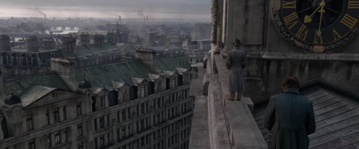 Fantastic Beasts: The Crimes of Grindelwald Trailer London filming locations St Paul's Cathedral roof