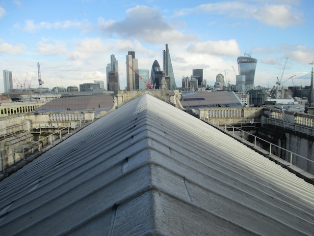 On the roof of St Paul's Cathedral