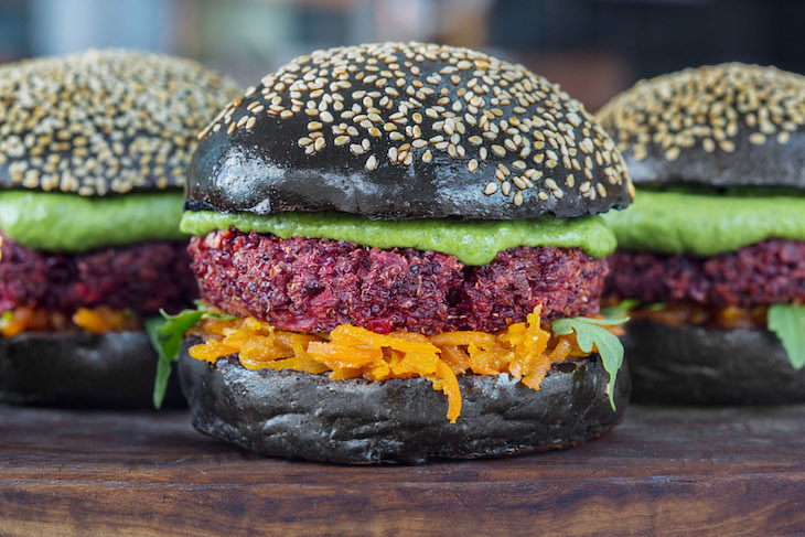 Veggie burgers at Roast in Borough Market: best vegetarian food in London