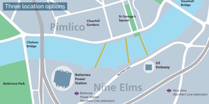 New Thames Bridge Planned Between Nine Elms And Pimlico
