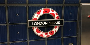 Poppy-Covered Roundels Installed Across TfL's Network Ahead Of Remembrance Day