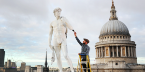 Michelangelo's David Appears In Front Of St Paul's... Wearing Boxers