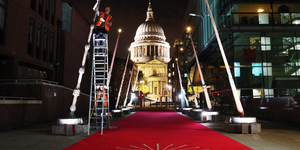 In Pictures: The St Paul's Cathedral Harry Potter Wands Are Illuminated