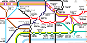 A Tube Map Of London Salaries: Updated