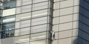 The French 'Spiderman' Just Scaled The 230m-Tall Heron Tower