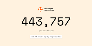 This Website Tracks How Long Since Rail Companies Last Said Sorry