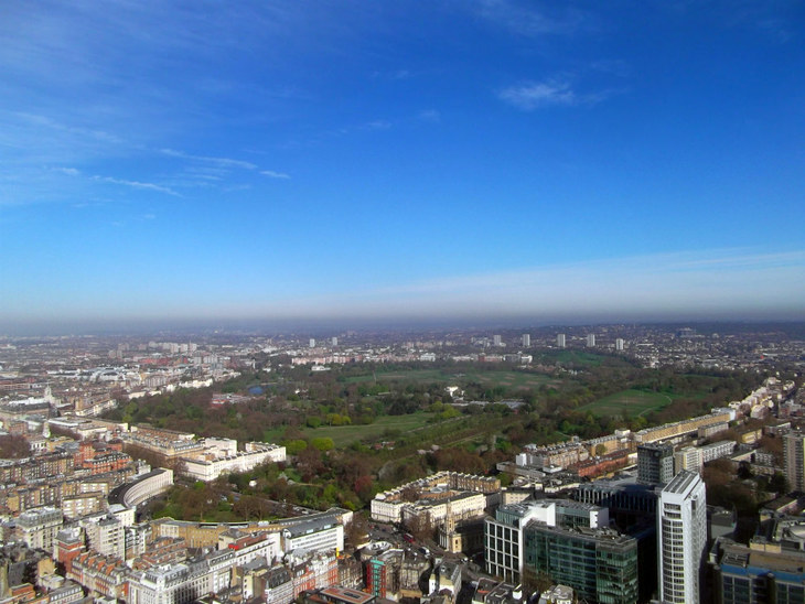 Regent's Park from the BT Tower.