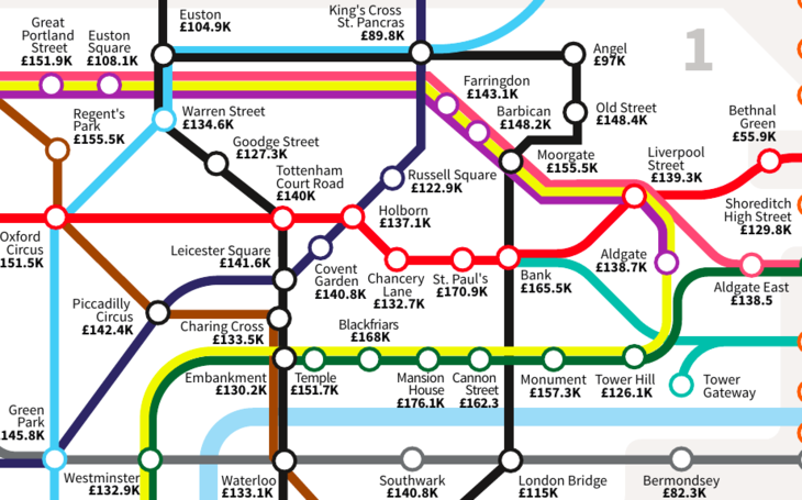 A Tube Map Of London Salaries Updated Londonist