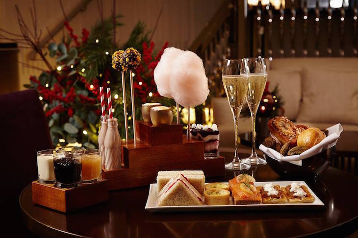 Festive Charlie and The Chocolate Factory afternoon tea at One Aldwych: Christmas afternoon teas in London 2018