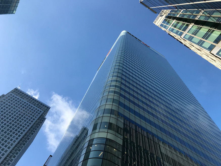 Skyscrapers at Canary Wharf.