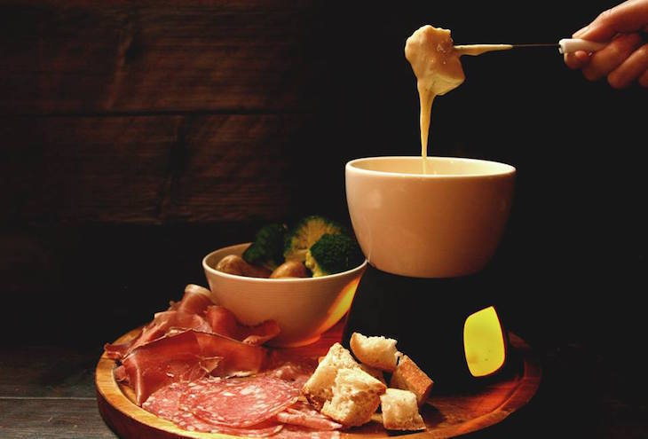 Cheese fondue at La Fromagerie - where to get cheese fondues in London