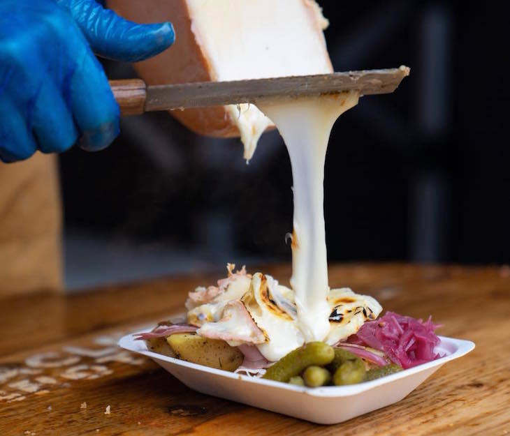 Raclette Brothers at Skylight Tobacco Dock - where to get raclette in London