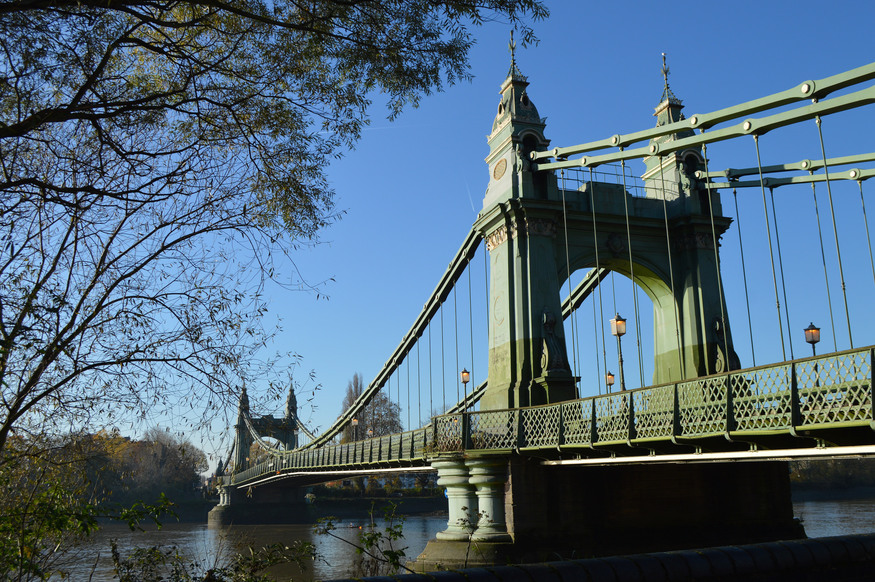 Hammersmith Bridge.