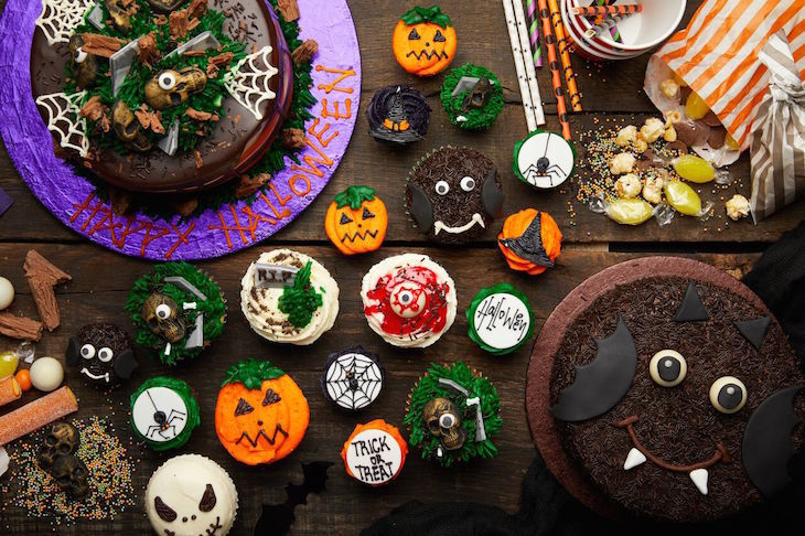 Halloween cupcakes at Lola's Cupcakes: Halloween food in London 2018