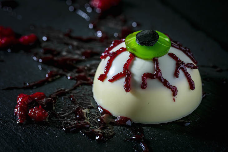 Chocolate eyeball at Bluebird Chelsea: best Halloween 2018 food and drink in London
