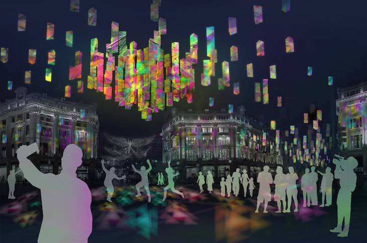 Gia Equation - shortlisted design for Oxford Street Christmas lights 2018
