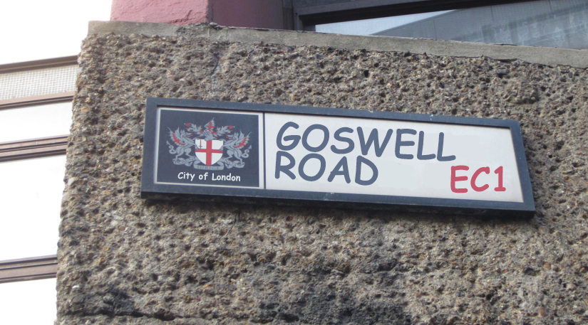 Goswell Road street sign.