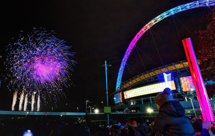 Fireworks night 2018 at Wembley Park
