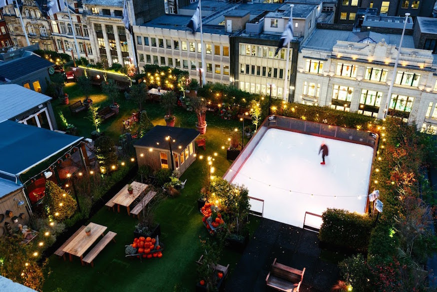 Rooftop ice skating rink John Lewis Oxford Street Christmas 2018