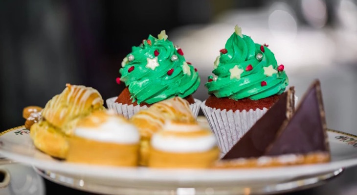 The Petersham Restaurant's Christmas afternoon tea - where to get festive afternoon teas in London for Christmas 2018