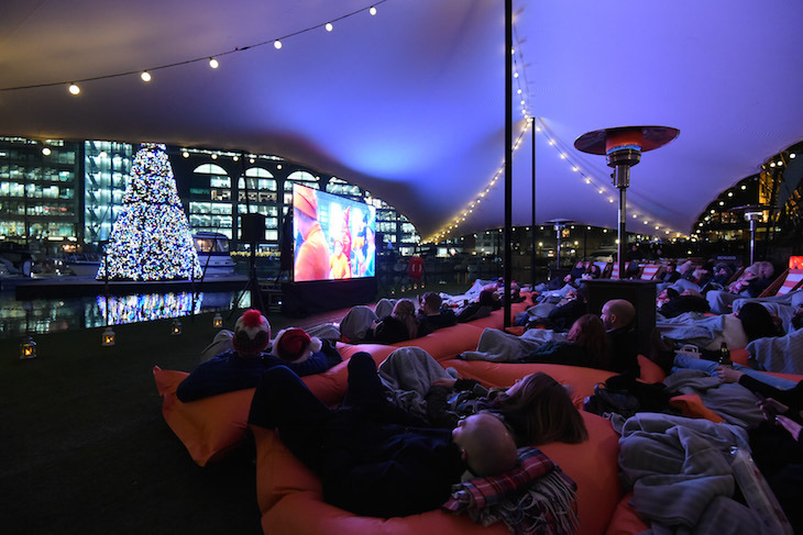 Christmas Floating Film Festival at St Katharine Docks - where to watch Christmas 2018 films in London