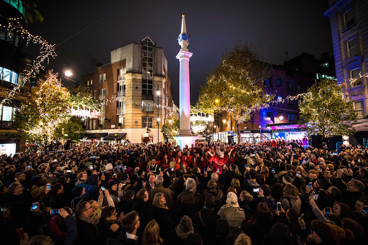 Seven Dials Christmas lights event: when are London's 2018 Christmas lights switched on