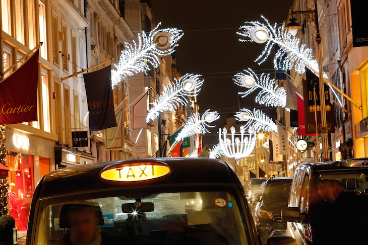Christmas lights in Bond Street: guide to Christmas in London, events, things to do, lights, markets, food, drink