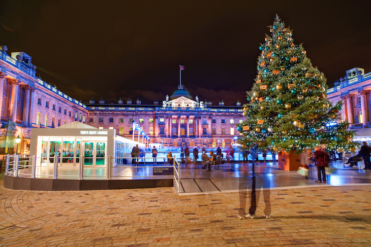 Christmas ice rink at Somerset House: guide to Christmas in London, events, things to do, lights, markets, food, drink