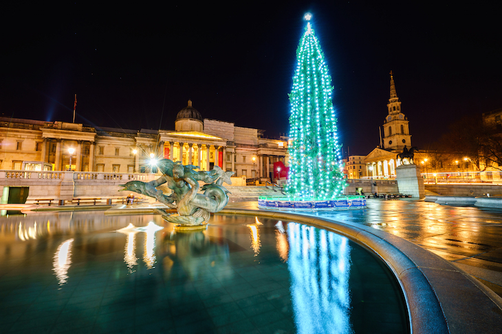 Christmas tree in Trafalgar Square: guide to Christmas in London, events, things to do, lights, markets, food, drink