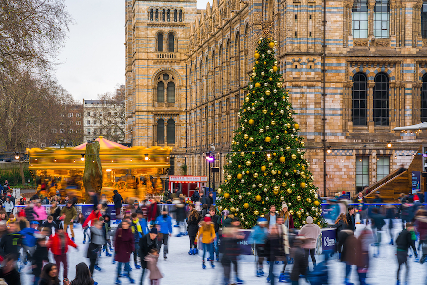 Ice skating at Natural History Museum: Things to do in London between Christmas and New Year 2018