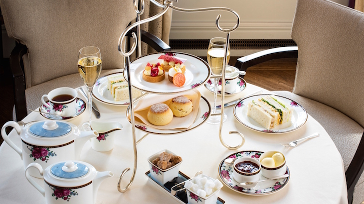 Christmas afternoon tea at the Langham Hotel: festive afternoon teas in London, Christmas 2018
