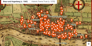 Medieval Murders In The Square Mile, Mapped