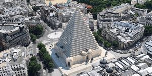 Trafalgar Square Pyramid And Regent Street Monorail? Unbuilt London Recreated