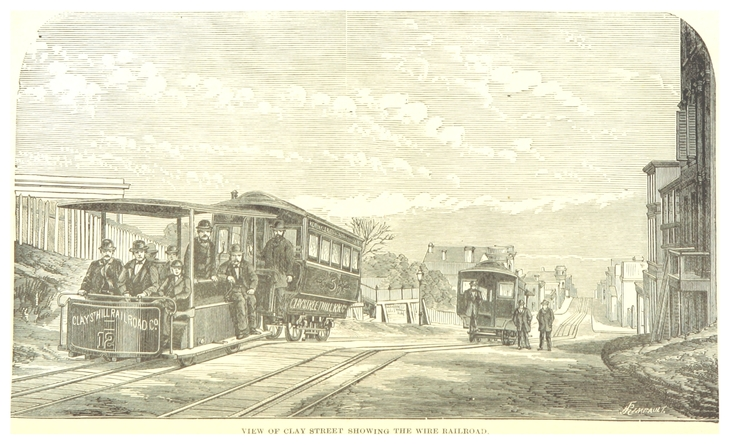 1876 view of the cable car.