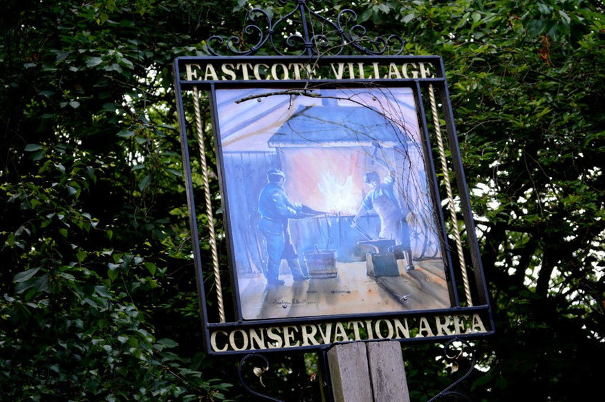 Eastcote village hanging sign.
