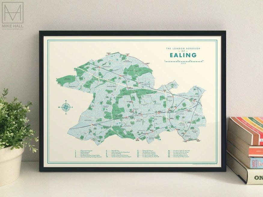 Map of Ealing borough