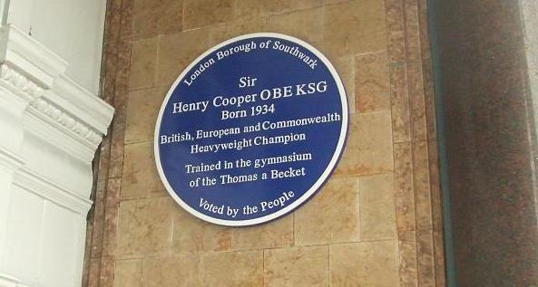 Henry Cooper plaque.