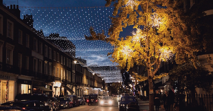 Connaught Village Christmas lights 2018