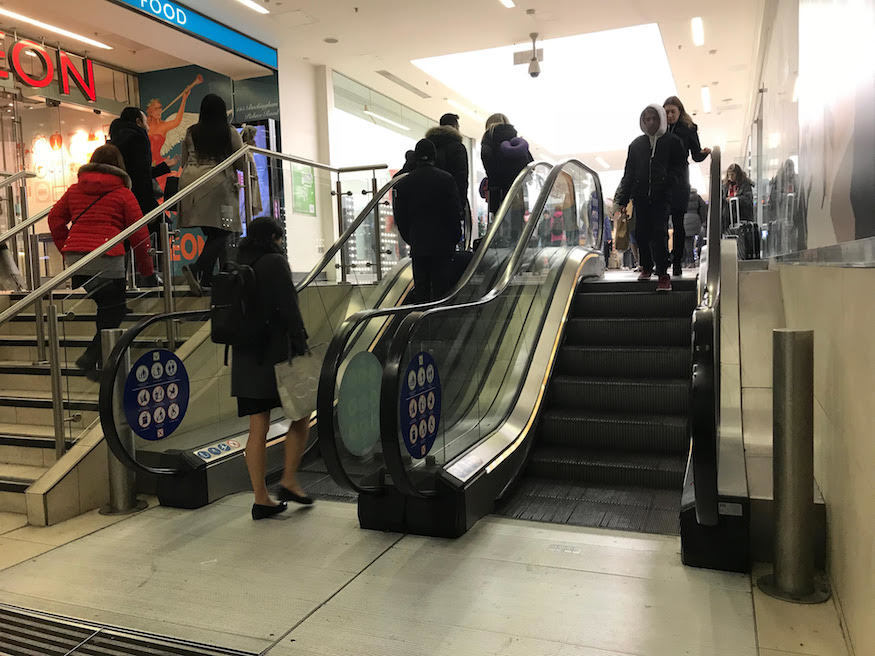 The shortest escalator in London?