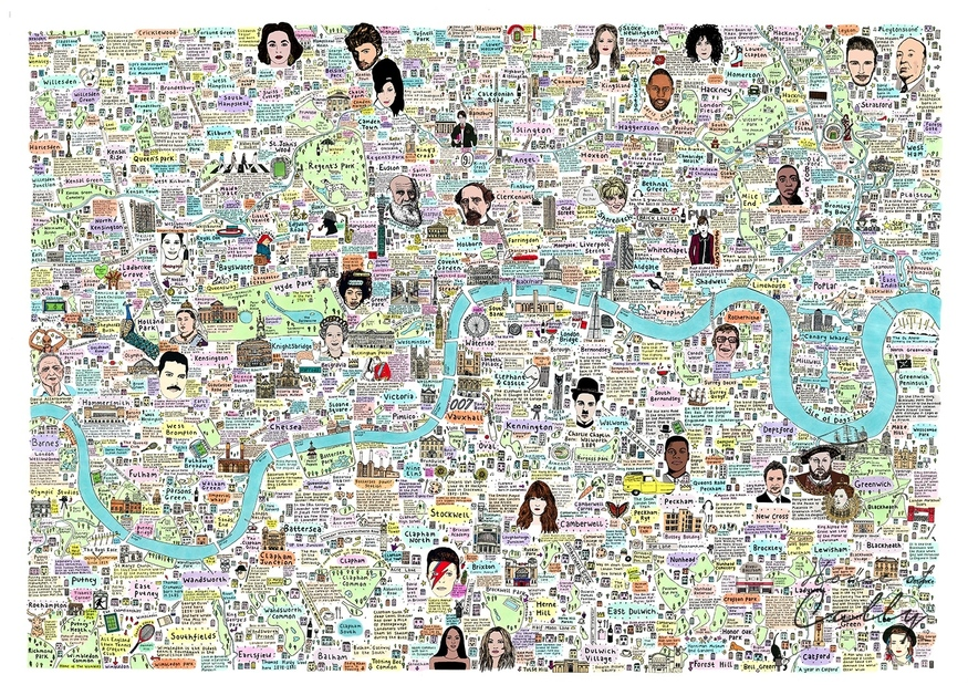 Detailed Map Of London.A Richly Detailed Map Of London S History And Culture Londonist