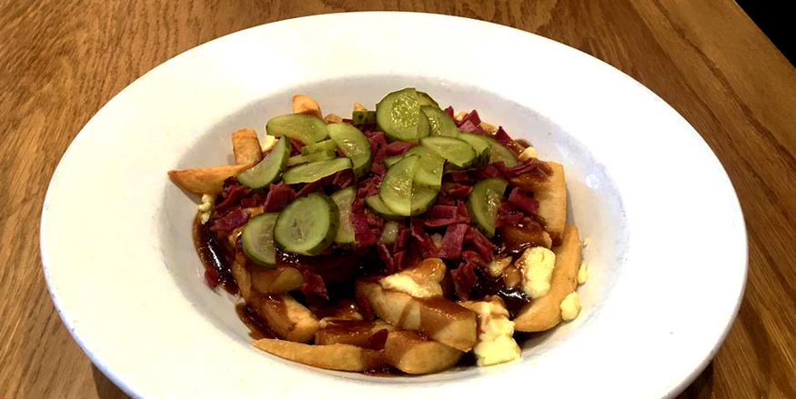 Maple Leaf pub in Covent Garden, serving one of the best poutine dishes to be found in London.