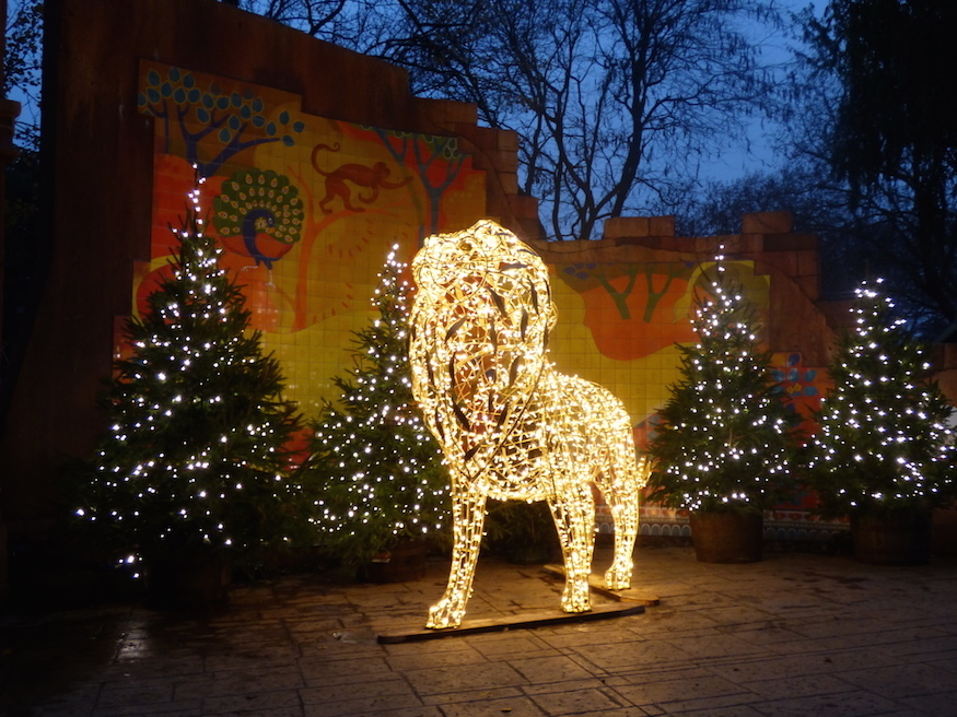 Christmas at London Zoo light festival 2018