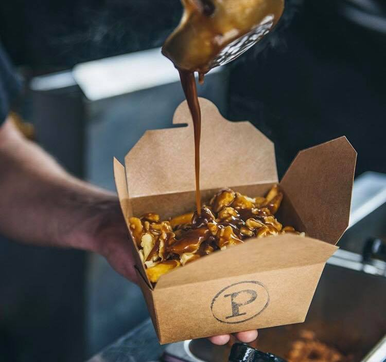 The Poutinerie street food stall, serving some of the best poutine in London.