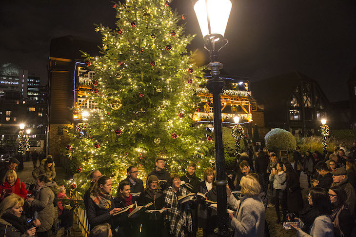 St Katharine Docks Christmas lights 2018: when are London's 2018 lights switched on?