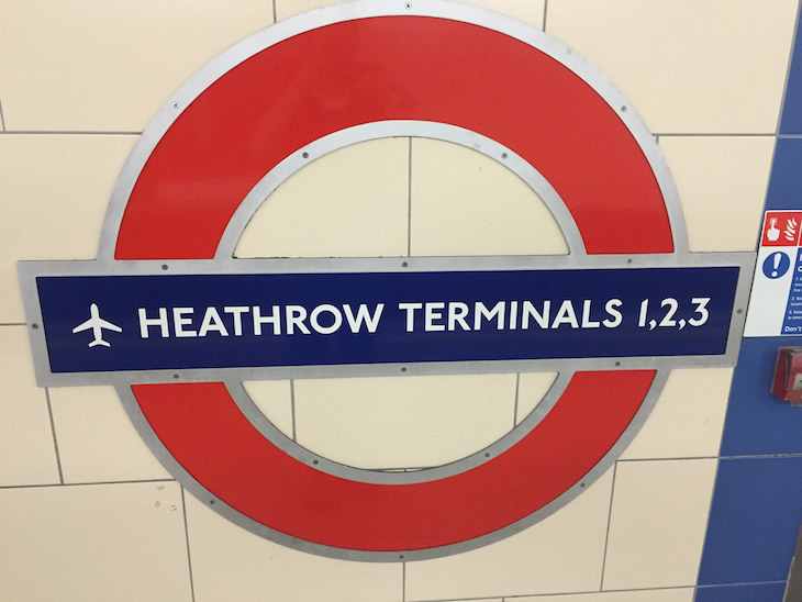 Heathrow Terminals 1,2,3 roundel.