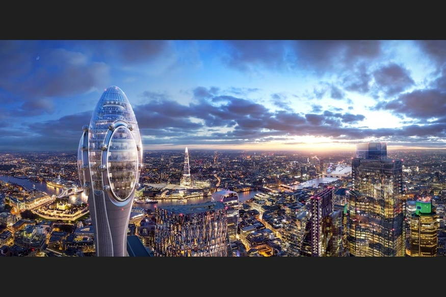 Plans revealed for new London attraction 'The Tulip'